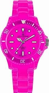 Alpha Saphir Unisex-Uhren Quarz Analog 369I, 39 mm rosa