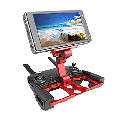 Favrison Foldable Mount Holder Versatile Stand Base for DJI Remote Control CrystalSky Monitor Smartphone Tablet/iPad, Extended Support Stand Bracket Clip for DJI Mavic 2/ Mavic Pro/AIR/Spark RC