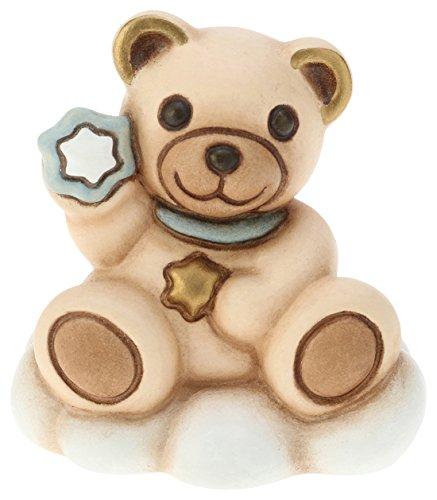Thun f2340h98b teddy lui su nuvola, ceramica, blu soft, 6.2 x 5.5 x 8.6 cm