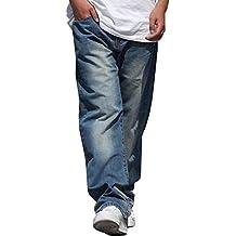 7953da7288424 Pantalones Vaqueros para Hombre Vintage Fashion Baggy Soft Moda Hip Hop  Dancing Denim Pants Men Casual