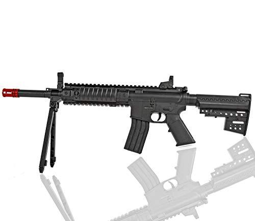 Nerd Clear Softair-Gewehr Sturm-Gewehr mit Zweibein 6 mm ca. 59 cm lang P569 Kinder-Gewehr Spielzeug-Gewehr Air-Soft -