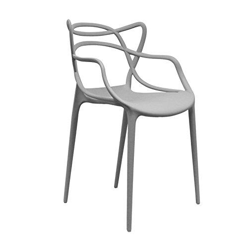 Regalos Miguel Silla Korme apilable: una de Las Sillas Masters del Diseño Moderno (Gris)