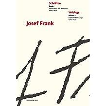 Josef Frank. Schriften / Writings (2 Bd.)