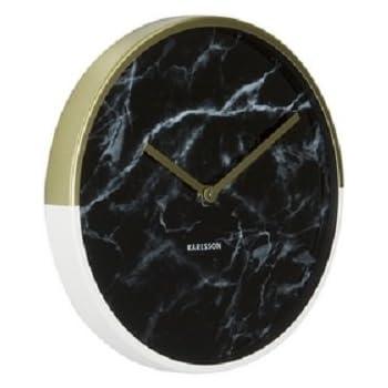 Karlsson KA5605BK Marble Delight Horloge Murale Cas de Cuivre/Marbre Noir 5 x 30 x 30 cm