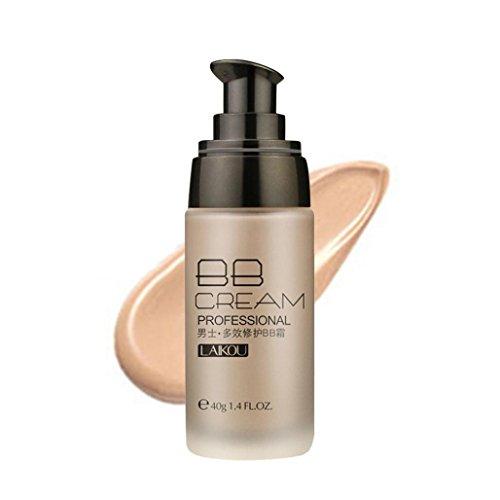 Mâle BB Cream Blé Couleur Bronze 40g Anti-Cernes Etanche Rawdah Beauté Make-Up Correcteur Imperméable à l'Eau De 40g De Crème De Blé de BB Pour Hommes (B)