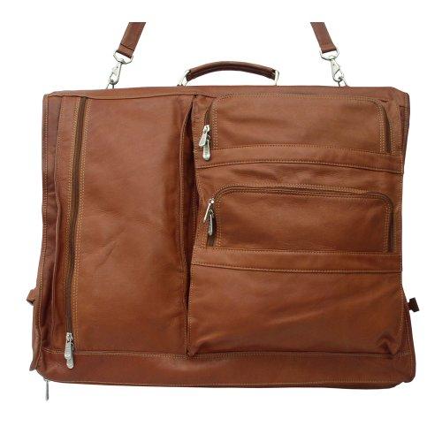 Piel Leather Executive erweiterbare Kleidertasche in Sattelbraun, Einheitsgröße (Executive Aktentasche Erweiterbare)