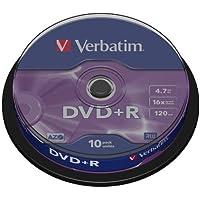 Verbatim Huso - Pack de 10 DVD+R (4.7 GB, 16x) color plata