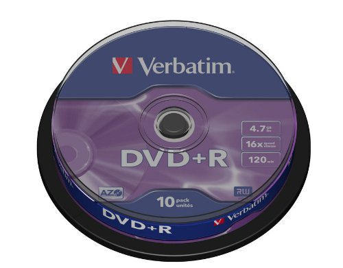 Verbatim 43498 DVD+R 16x Speed 10er Spindel DVD-Rohlinge