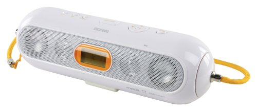 König HAV-PMS10 Tragbares MP3 Player (LC-Display, FM Tuner, SD/MMC Kartenslots, Mini USB) weiß/orange
