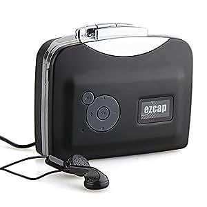 USB Lecteur Convertisseur Cassette Audio Vers MP3 Noir Pour PC