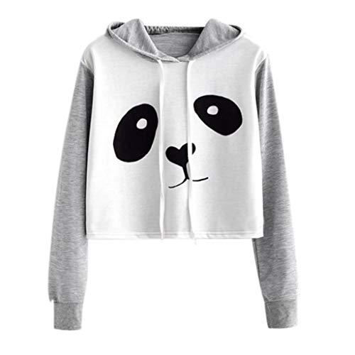 MEIbax 2018 Caricatura Lindo Panda Moda promocionales Blusa Tops Mujeres gráfico de impresión Sudadera con Capucha Blusa de Jersey Tops