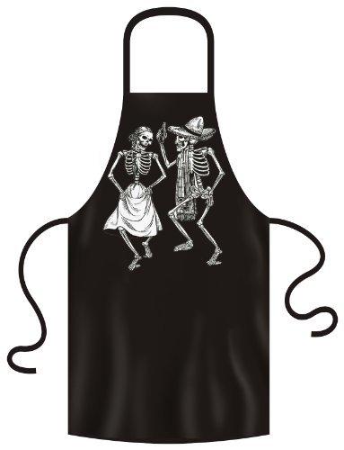 coole SUGER-SKULL Schürze: Dancing skeletons Farbe: schwarz Größe: unisex (Girl Cool Tattoos)