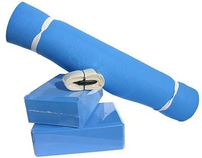 ScSPORTS Yogaset mit Matte, 2 Blocks und Seil