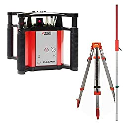 PULSAR H fully automatic rotating laser / leveling laser with aluminum tripod and combi laser bar 2,4 m