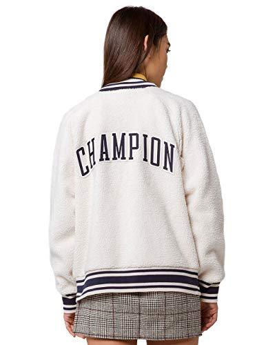 Champion Track Shorts (Champion Life Damen Sherpa Full Zip Jacket Jacke, Quartz Cream, X-Klein)