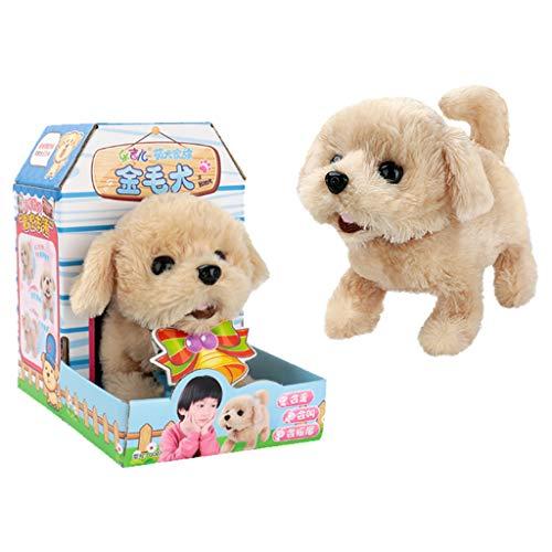 R-Cors Nettes gehendes Haustier bellen Hund elektrisches weichen Elektronischer Hund Hündchen Spielzeug, Laufender Plüsch Welpen Spielzeug, Hund batteriebetrieben Haustier Spielzeug -