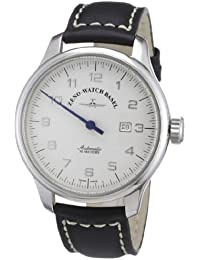 Zeno Watch Basel Oversized 8554UNO-pol-e2 - Reloj analógico automático para hombre, correa de cuero color marrón