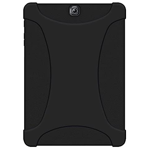 AMZER Silicone Skin Jelly Case Cover for Samsung Galaxy Tab S2 9.7-Inch SM-T810 - Black
