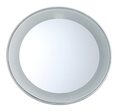 Tweezerman Kosmetikspiegel Schminkspiegel Vergrößerung LED Licht 15-fach inklusive Batterie 6796-R