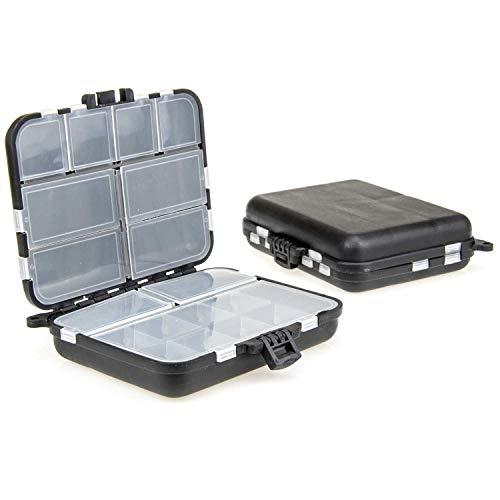TheBigFish - Kleinteilebox - Black Edition - Ideal für Wirbel, Bleie, Haken etc. für Angel Camping Jagd