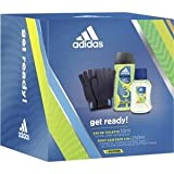 adidas Get ready for him Eau de Toilette + Shower Gel + Handschuhe, 300 ml