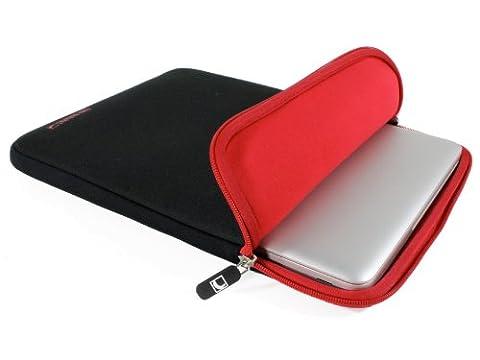 COOL BANANAS ShockProof Tasche passgenau für MacBook Pro & MacBook Air 13 Zoll   Sleeve   Hülle mit strapazierfähigem Nylonbezug   Ultra-leicht   perfekter Schutz durch Memory-Foam-Effekt   Farbe Rot