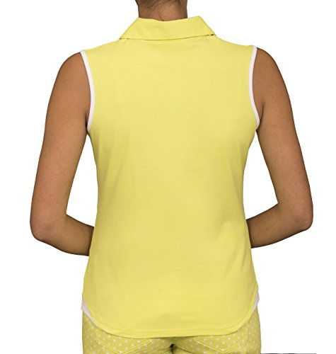Green Lamb - T-shirt de sport - Femme Vert citron/blanc
