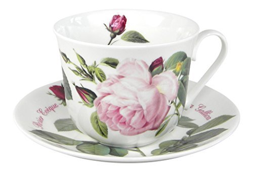 Roy Kirkham Versailles Roses Breakfast Tea Cup and Saucer Set Fine Bone China by Roy Kirkham Roy Kirkham Bone China