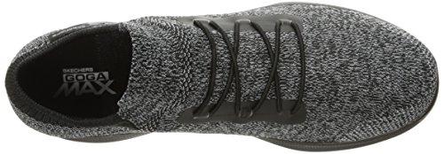 Skechers Go Step Lite, Allenatori Donna Nero (Black/grey)