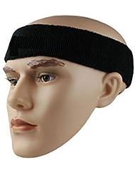 westeng 1pieza diferentes colores algodón deportes Baloncesto diadema Sweatband Head sudor banda Brace, negro