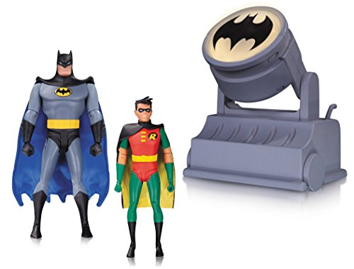 Batman the Animated Series: Batman and Robin with Bat-Signal Action Figure 2-Pack