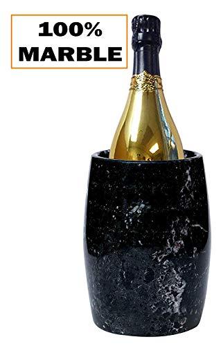 Radicaln Wine Chiller Eimer 12,5x12,5x16,5 cm Outdoor Marmor Black Chillers - Best für Kochgeschirr Halter, Blumenvase, Schreibwaren-Halter Marble Wine Chillers (BZ-02)