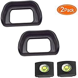 Eyepiece Eyecup Viewfinder Cache-Yeux pour Appareil Photo numérique Sony Alpha Sony A6300 A6000 NEX-6 NEX-7 pour viseur FDA-EV2S et ULBTER FDA-EP10 (Lot de 2)