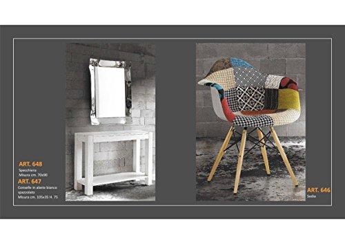 Set 3Stück = Spiegel Konsole Stuhl Sessel Möbel in Stil Handwerk Toscano Console Art 647 cm 105x35 h cm 75 (Set Spiegel Tisch Konsole)