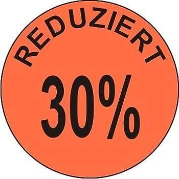 Profi Etiketten 5 Rollen Aktionsetiketten Werbe-aufkleber Rot 32mm Reduziert 20% Einfach Zu Verwenden Büro & Schreibwaren