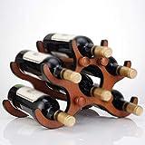 XQY Wohnzimmer Weinregal, Restaurant Weinregal, Dekoratives Weinregal, Weinregale Mahagoni Farbe Woody 6 Flaschen Einfache und Stilvolle Wohnzimmer Weinschrank für jeden Raum