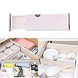 TAOtTAO Drawer Separator Schubladenunterteiler White Spring Loaded Erweiterbar Küche Schlafzimmer Organizer