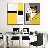 Image abstraite jaune et blanche de toile de bloc de couleur, peinture sur...