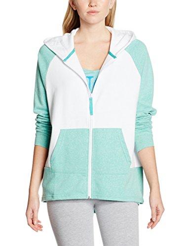 Intimuse Damen Sweatshirt mit Kapuze, Türkis (Mint Melange 082), Large (Kapuze Mit Baumwoll-jersey)