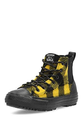 Converse Ctas Chelsea Woolrich Hi Damen Chelsea Stiefel Black Yellow - 4 UK