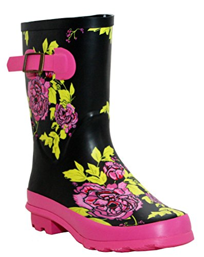 A&H Footwear Ladies New Womens Short Mid Calf Girls Snow Mud Festival Waterproof Wellington Rain Boots Wellies