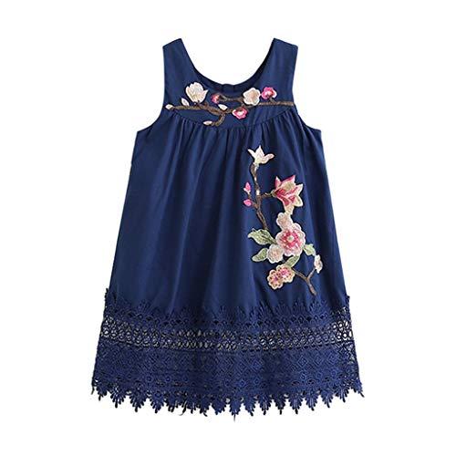 Baby Mädchen Kleidung Kleid Sommer Damen Kurz Stickerei Spitze Partei Pageant Pwtchenty Prinzessin Weste Dress Kleid Mädchen Große ()