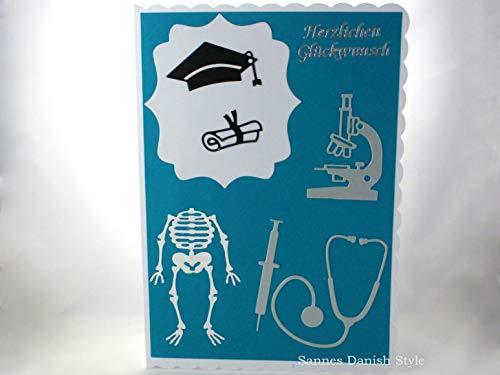 Grußkarte Arzt Mediziner Prüfung Studium Kanüle, DIN A5