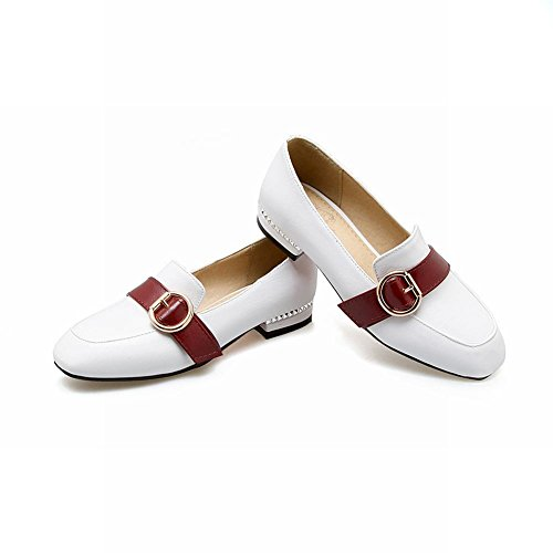 MissSaSa Donna Scarpe col Tacco Basso Bello e Fashion Shoes Bianco