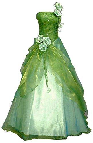 Romantic-Fashion Damen Ballkleid Abendkleid Brautkleid Lang Modell E230 A-Linie Blüten Perlen...
