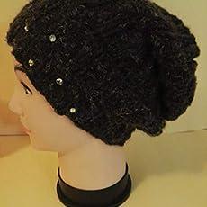 Cappello ai ferri da donna con motivo a spirale grigio viola  Amazon ... b9d037e50a31
