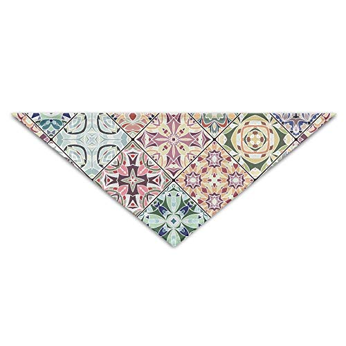 Gxdchfj Abstract Mosaic Patterns Triangle Pet Scarf Dog Bandana Pet Collars for Dog Cat - Birthday (In Katze Diy Den Hut-kostüm)