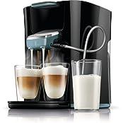 Senseo HD7855/60 Latte Duo Kaffeepadmaschine (2 Getränke mit Milch) schwarz