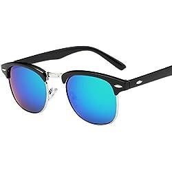 Dame Herren Classic Sonnenbrille Hiroo Sommer Mode Vintage Brillen (G)