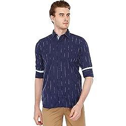 Allen Solly Mens Solid Regular Fit Casual Shirt (AMSF318G00154842_Navy)
